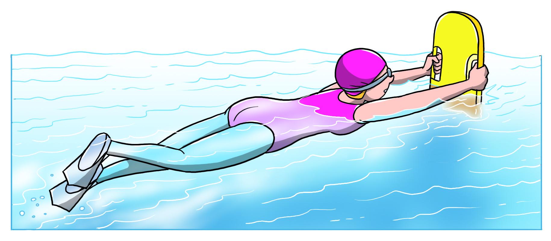nuoto con resistenza della tavoletta