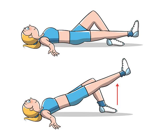 Exercice de pont sur une jambe pour des fesses parfaites