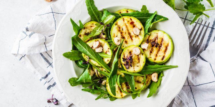 insalata di zucchine rucola e pecorino