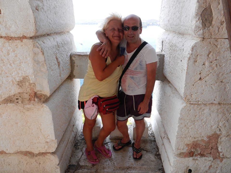 Marzia e il marito prima della dieta Melarossa