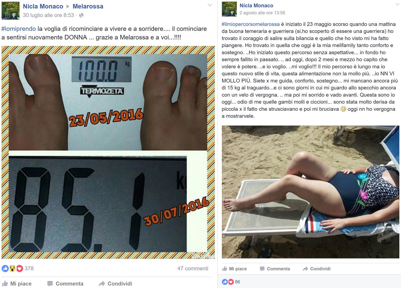 Nicla grazie alla dieta Melarossa ha riscoperto la sua femminilità