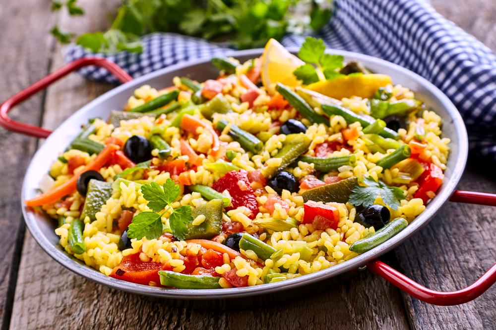 la ricetta della paella vegetariana