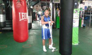 Valentino Manfredonia in allenamento