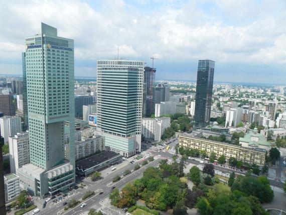 Vista su Varsavia moderna