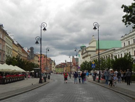 Varsavia, via Reale nella città vecchia