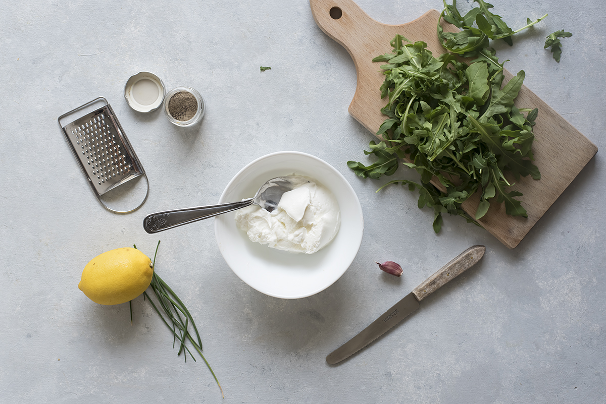 Ingredienti piadina farcita salmone