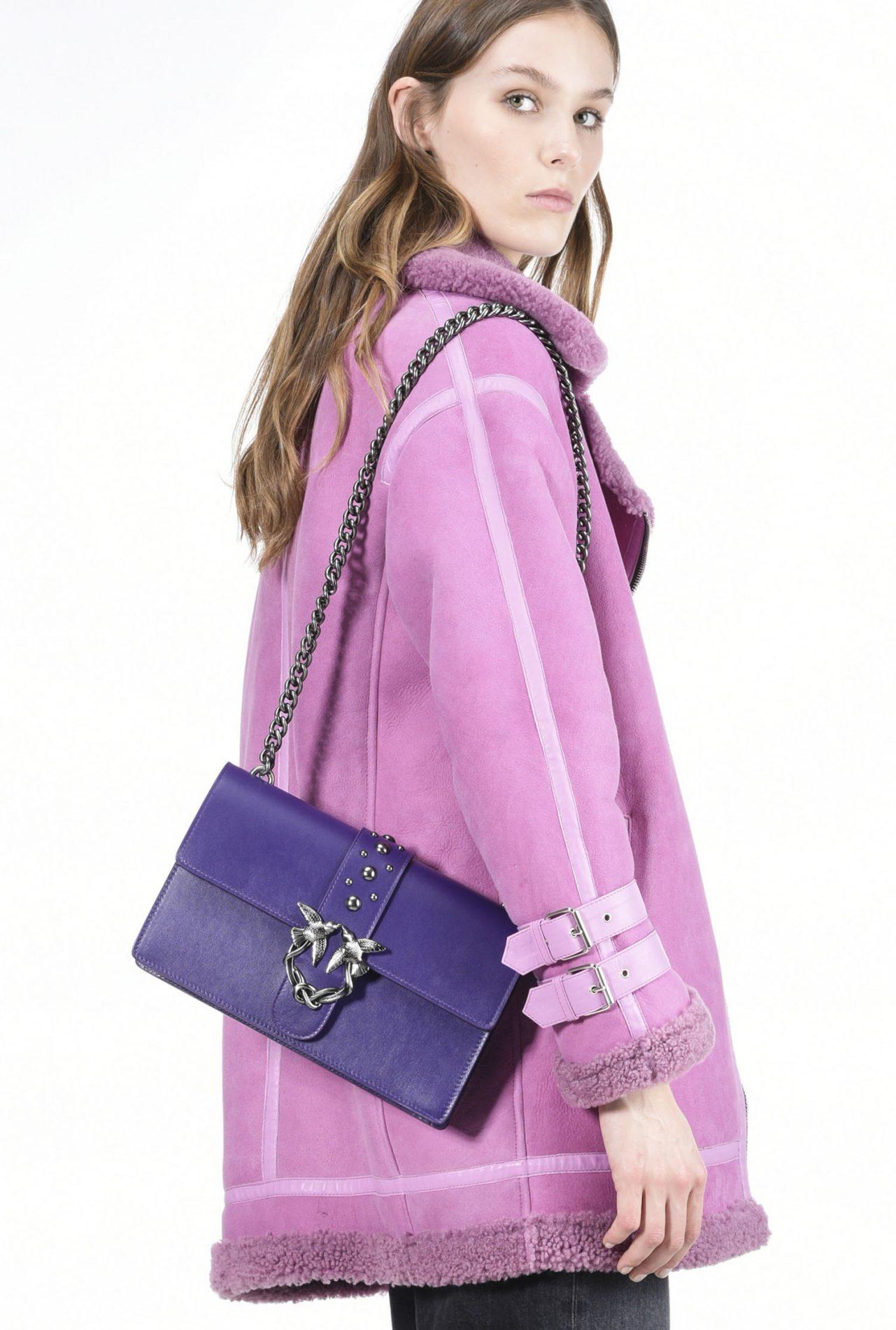 Love bag con borchie Pinko