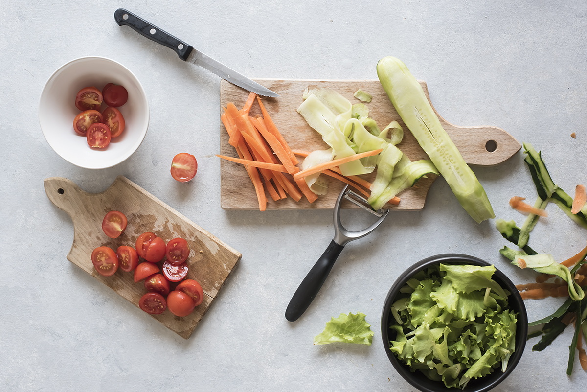 Taglia verdure per veggie wrap