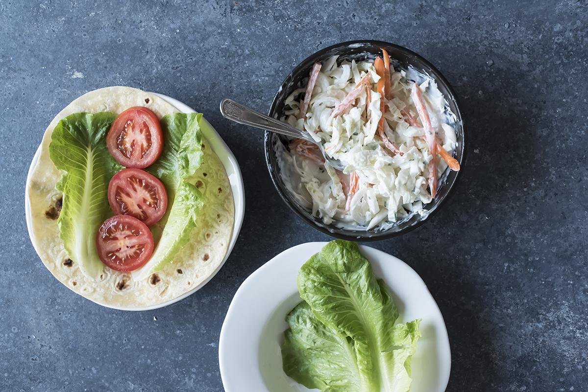 Farcitura piadina con pollo e verdure