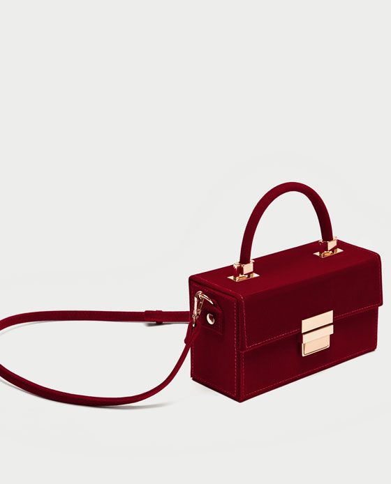 Pochette rigida velluto a costine Zara