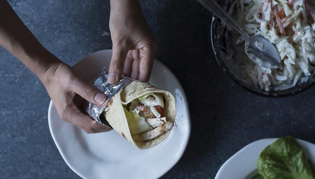 Ricetta piadina con pollo o chicken wrap