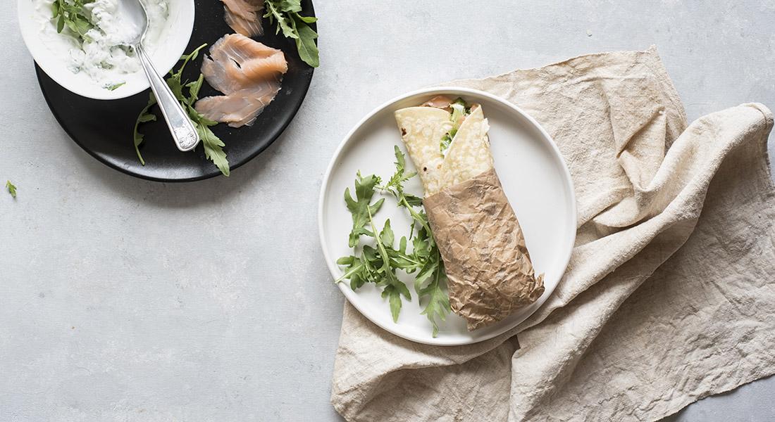 Ricetta piadina con salmone