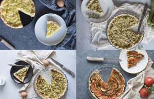 Torte salate, la base light e 4 farciture