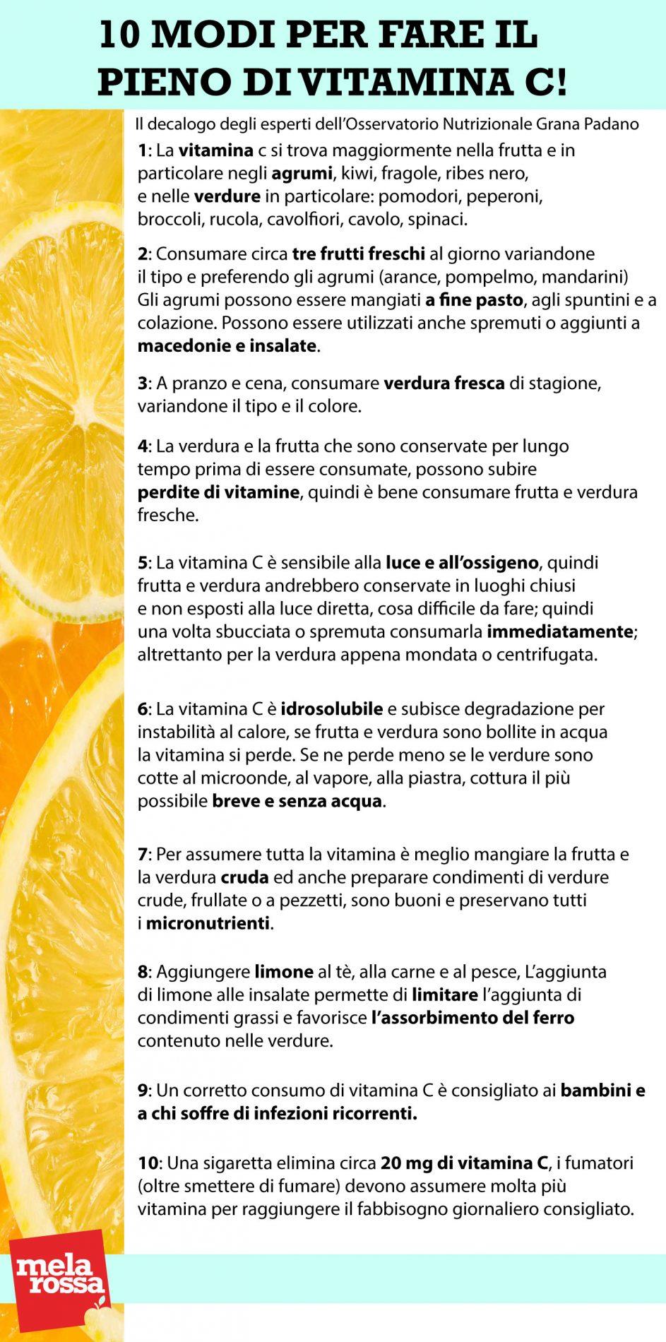 10 modi vitamina c