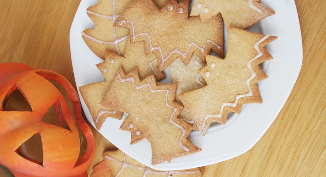 biscotti di halloween con farina di castagne
