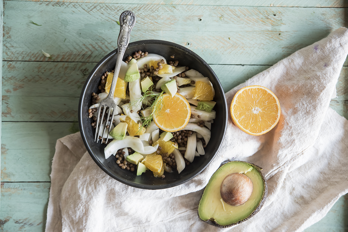 ricetta con avocado: insalata di arance
