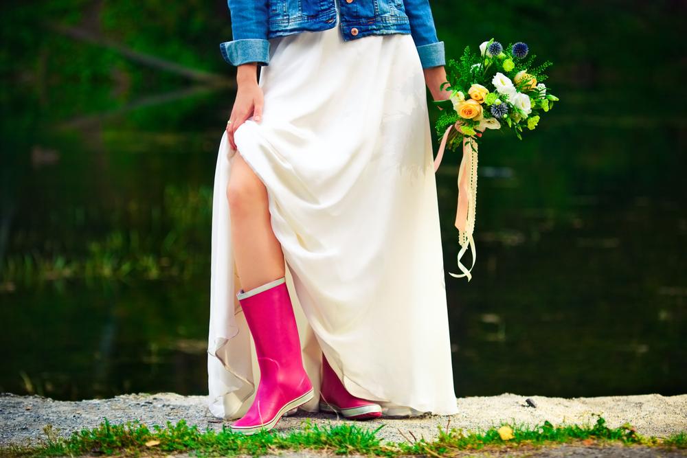 stivali da pioggia, come indossarli