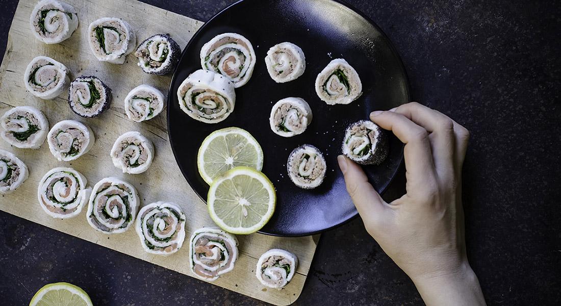 sushi italiano di tramezzini