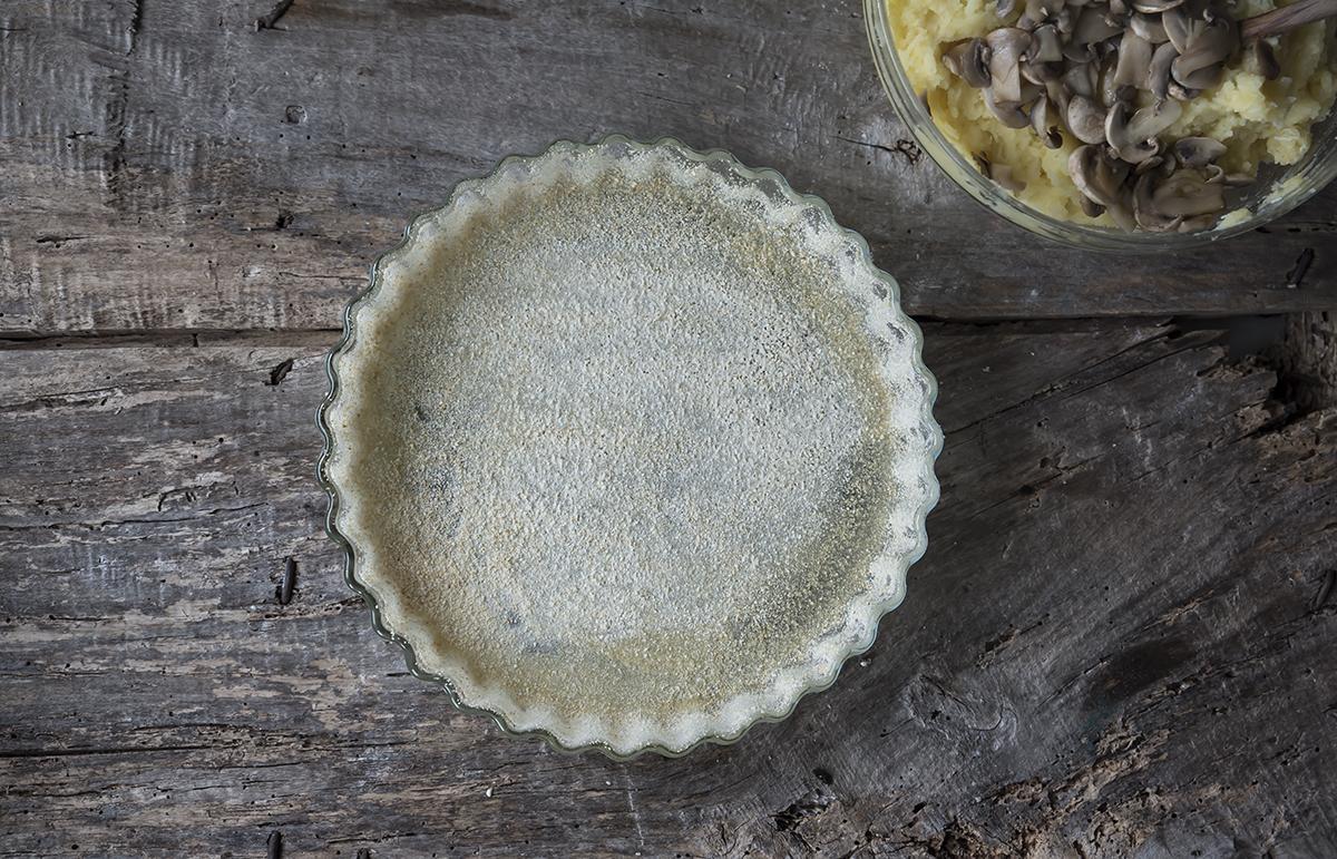 ricetta gateau di patate e funghi