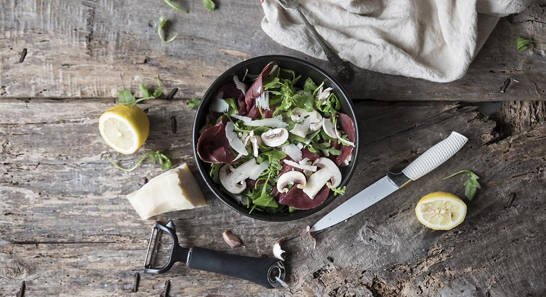 ricetta insalata di funghi e bresaola