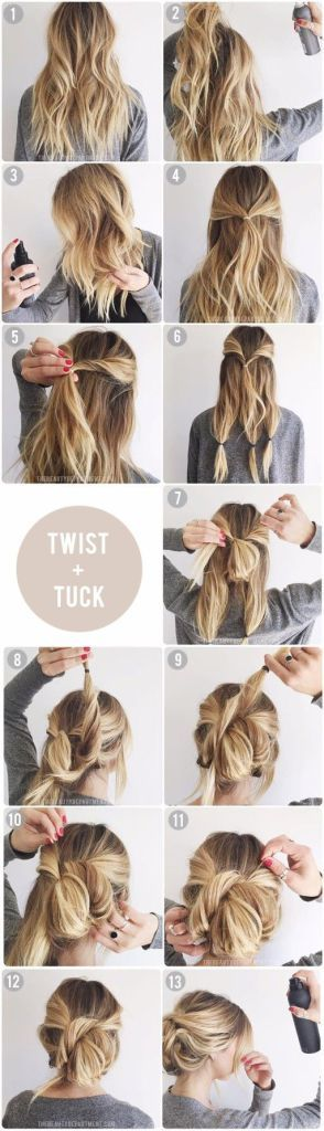 acconciature Natale: twist and tuck- tutorial