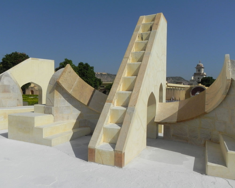 L'osservatorio astronomico Jantar Mantar a Jaipur