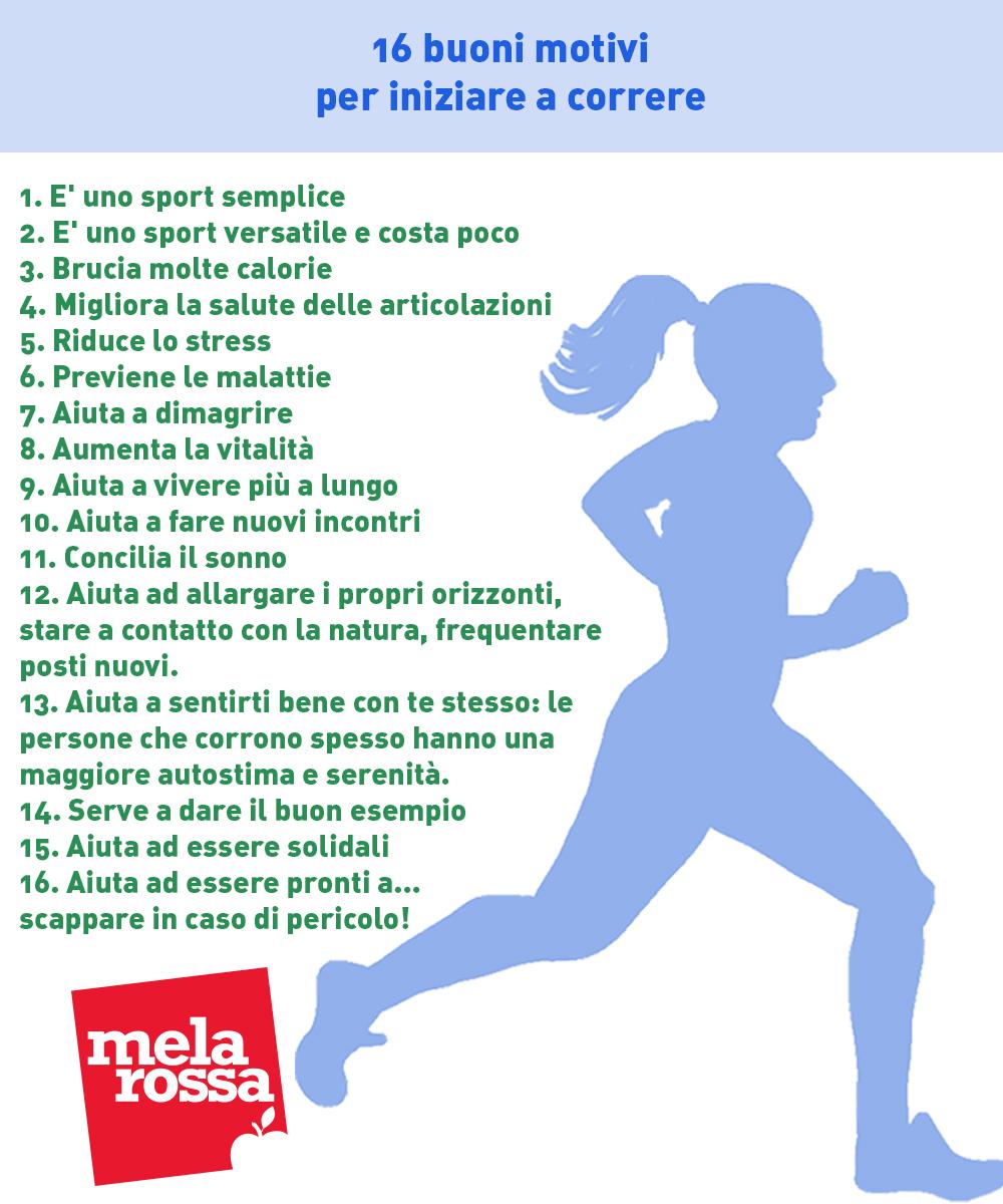 16 buoni motivi per iniziare a correre