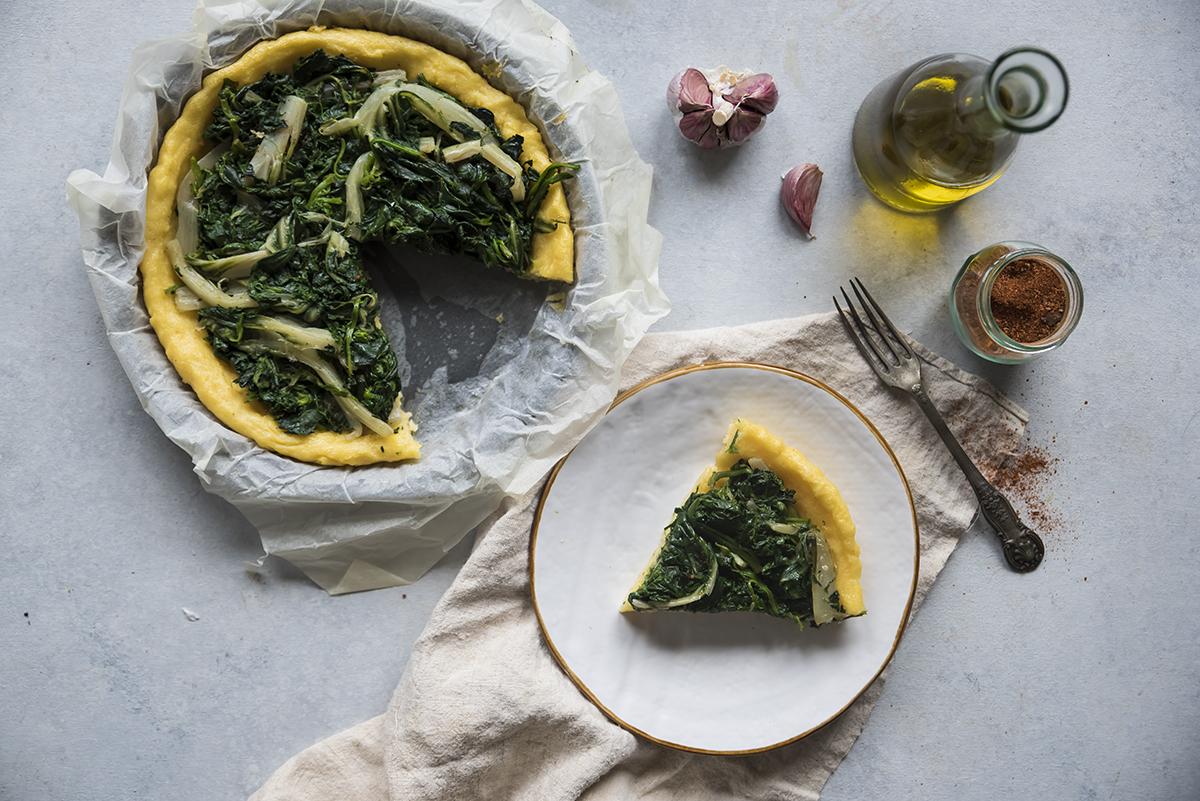 ricetta torta salata di polenta