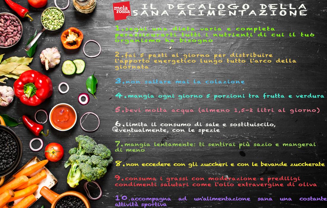 il decalogo della sana alimentazione
