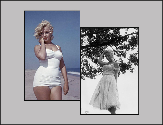 fisico a clessidra marilyn Monroe