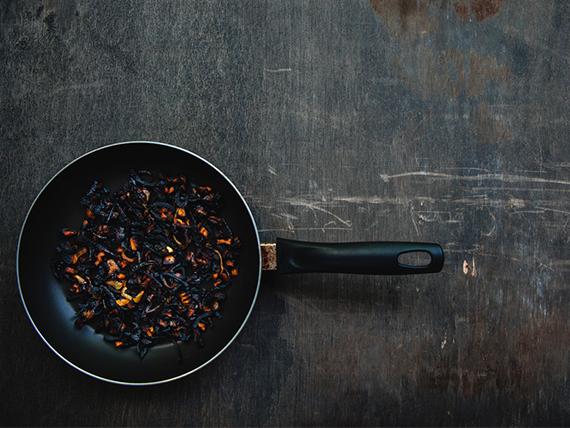 errori in cucina sapore di bruciato