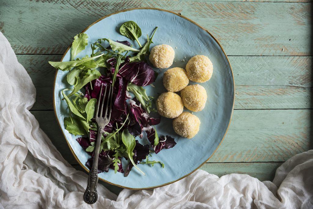 Ricette a meno di 300 calorie: polpette di polenta