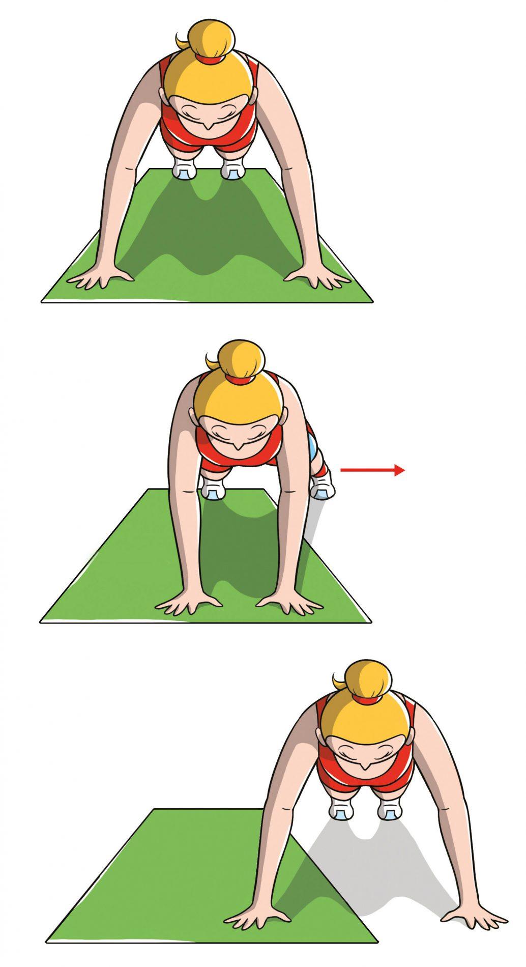 rassodare il seno con l'esercizio del plank