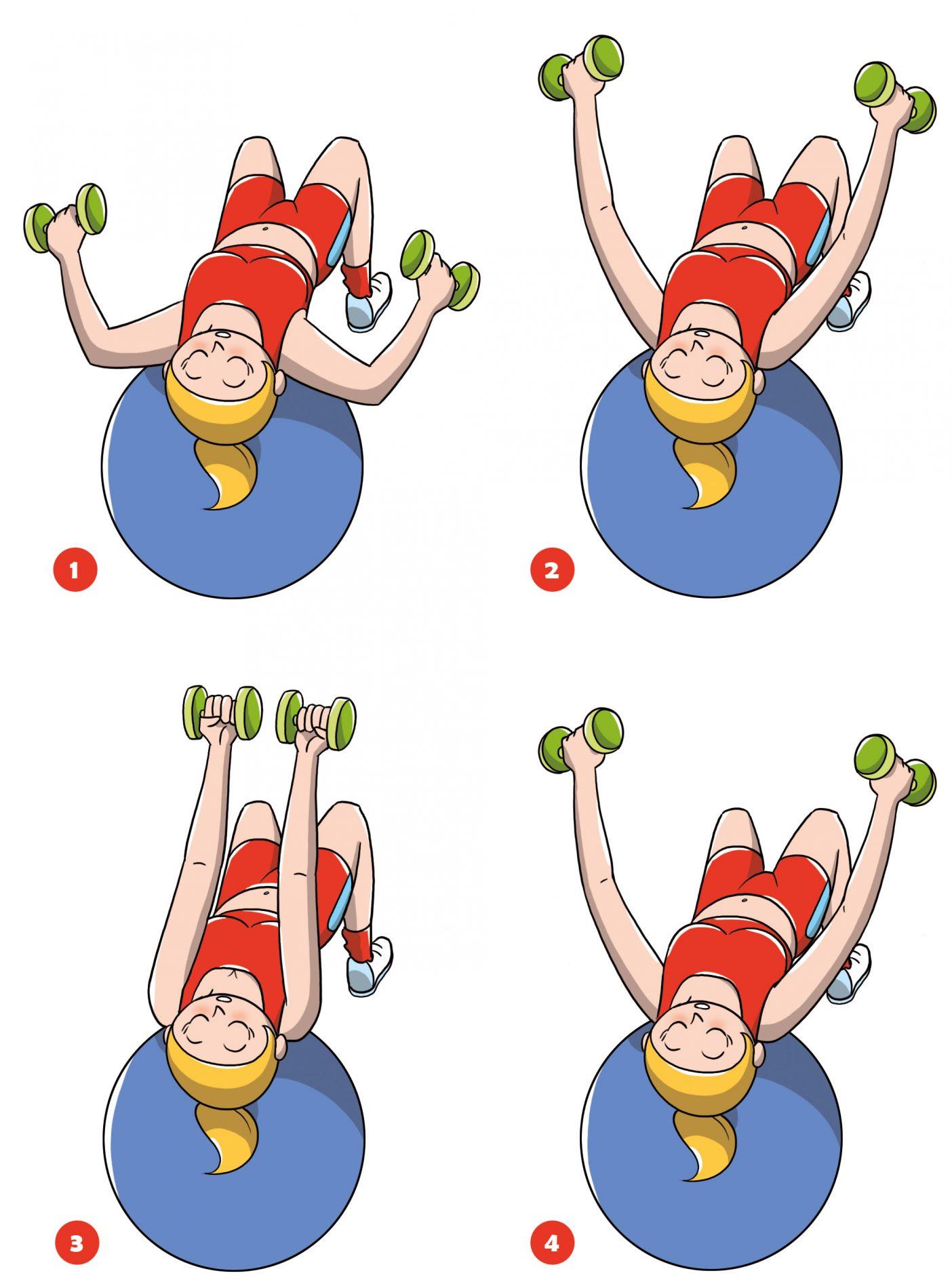 rassodare il seno con esercizi per i pettorali