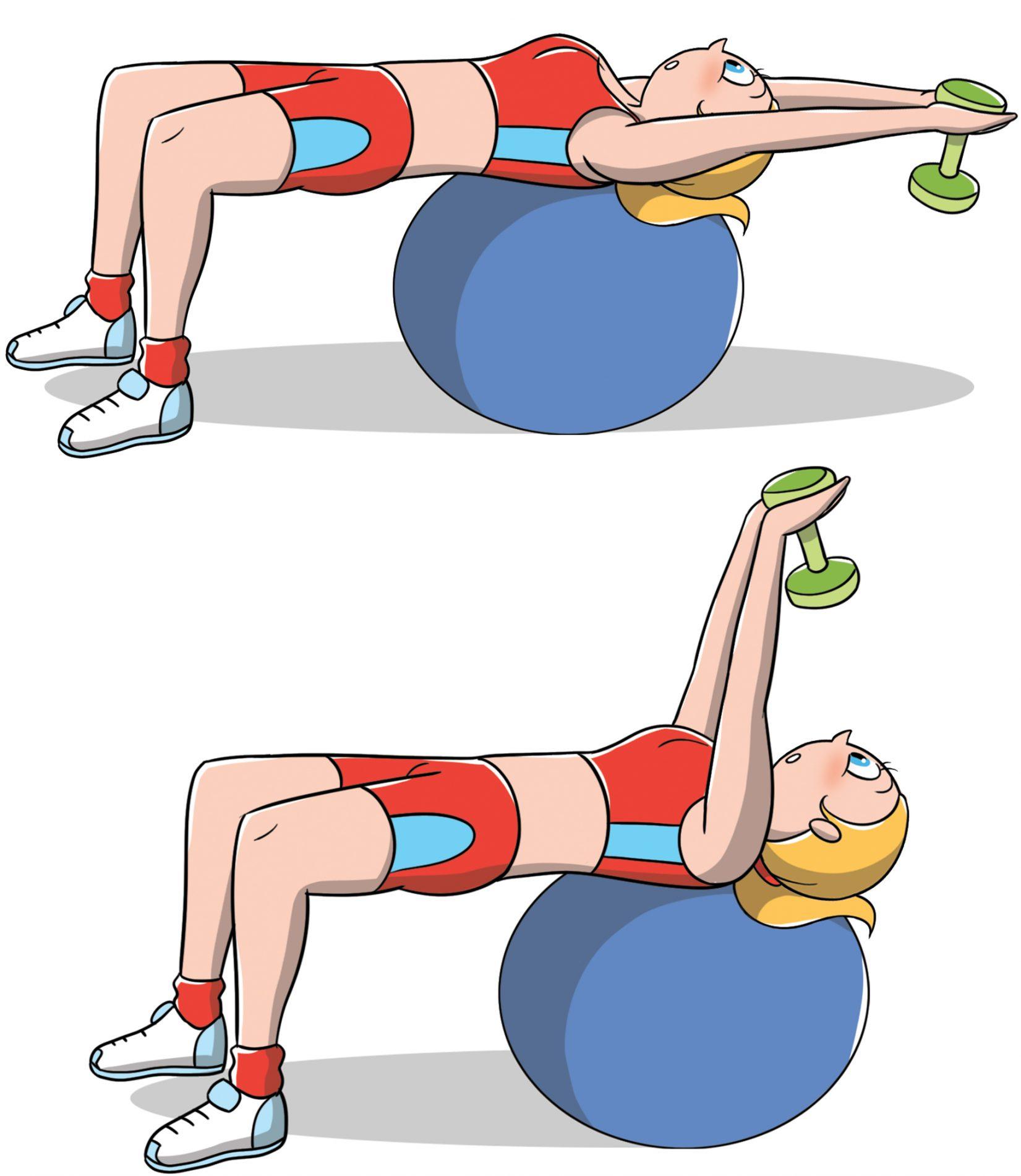 rassodare il seno con l'esercizio del pull over