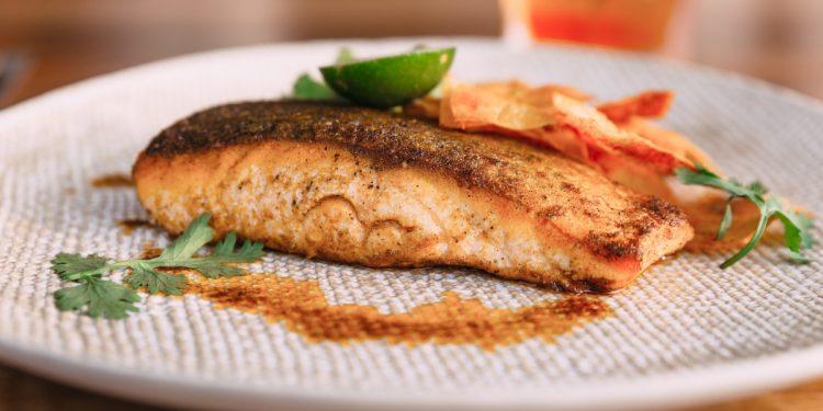 salmone in crema di pistacchio