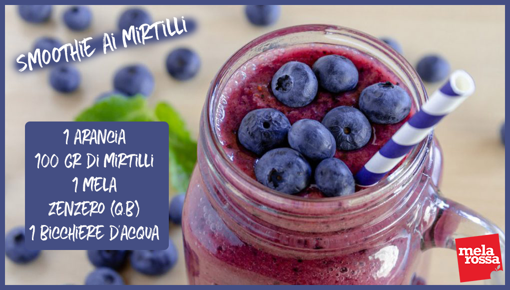 smoothie ai mirtilli, una ricetta light