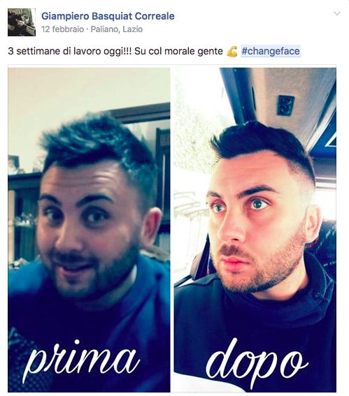 #changeface Giampiero