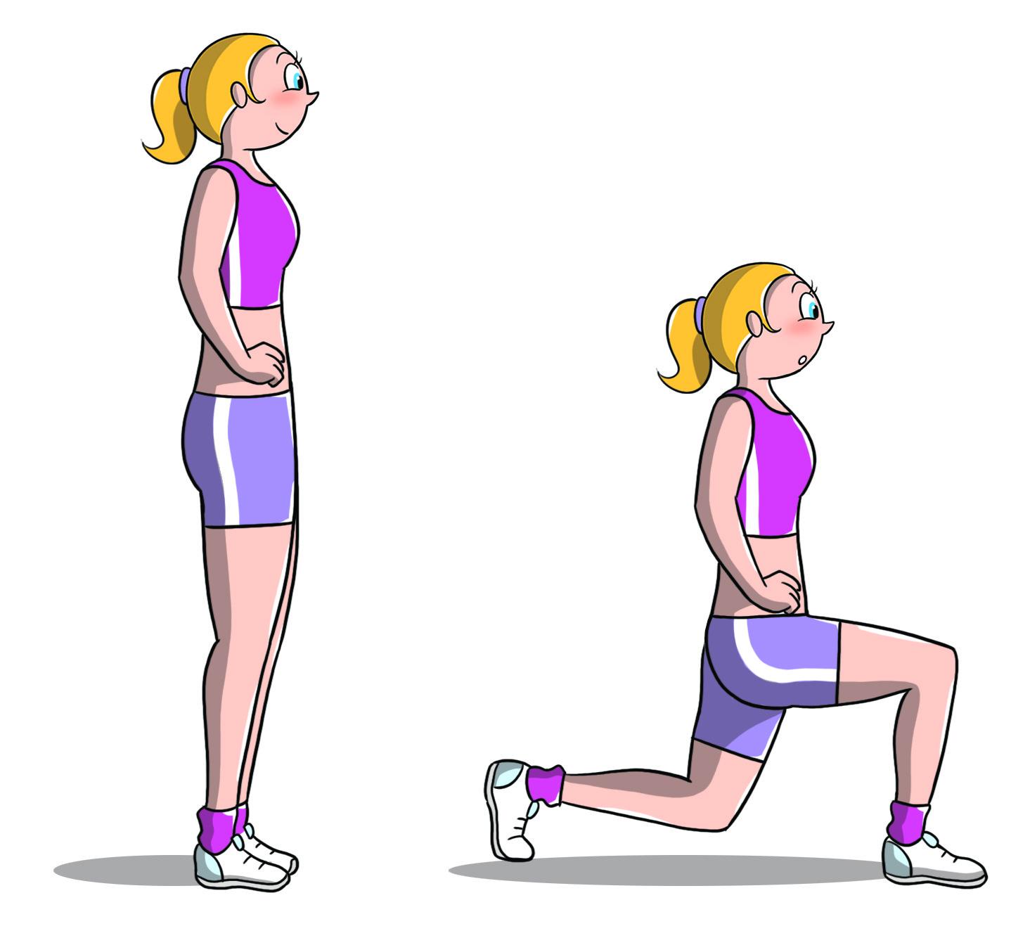 workout a casa: affondi