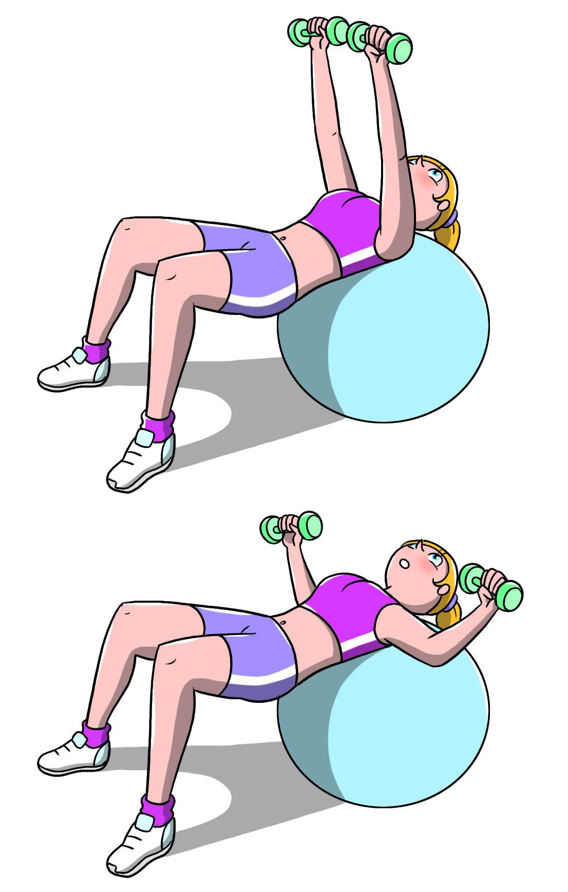 workout a casa: chest press