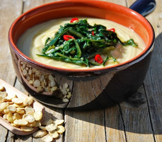 la ricetta della vellutata di fave