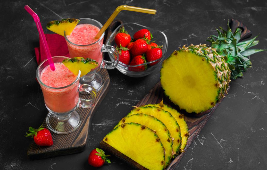 frullato fragola e ananas