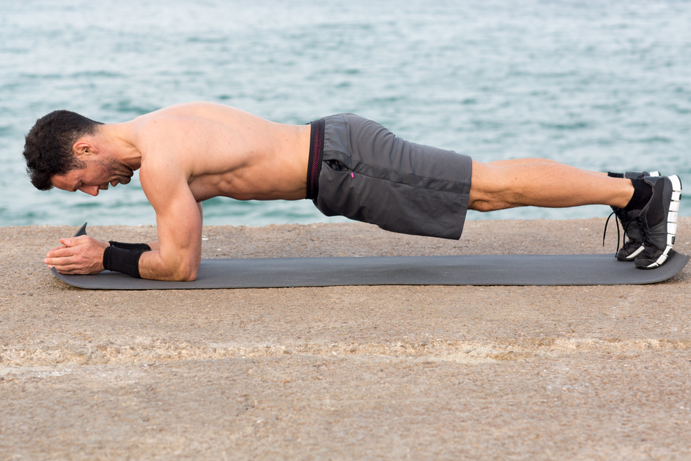 maniglie dell'amore: low plank