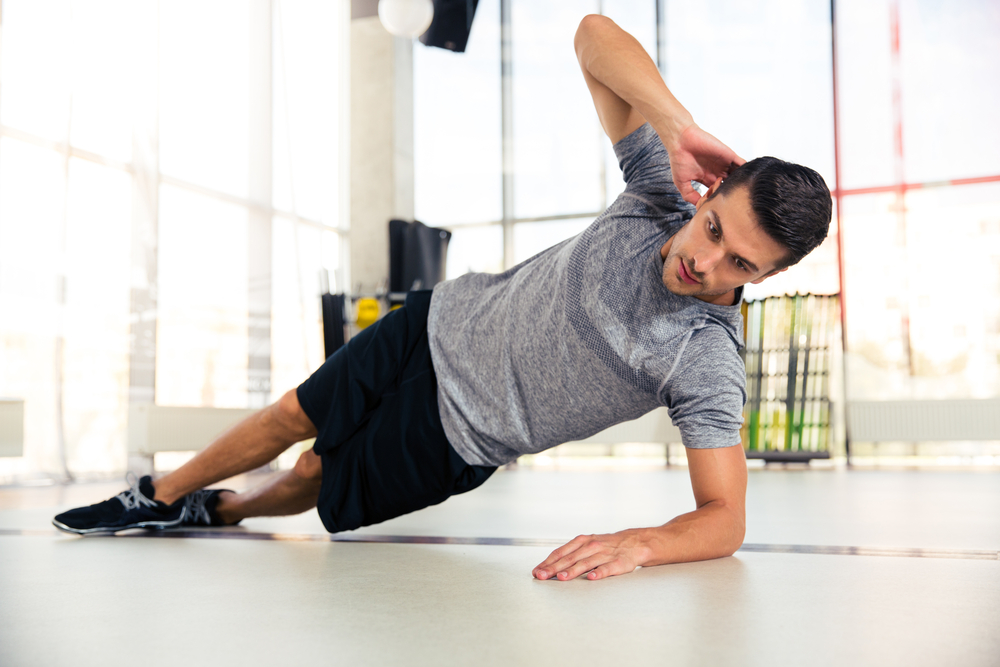 maniglie dell'amore: side plank