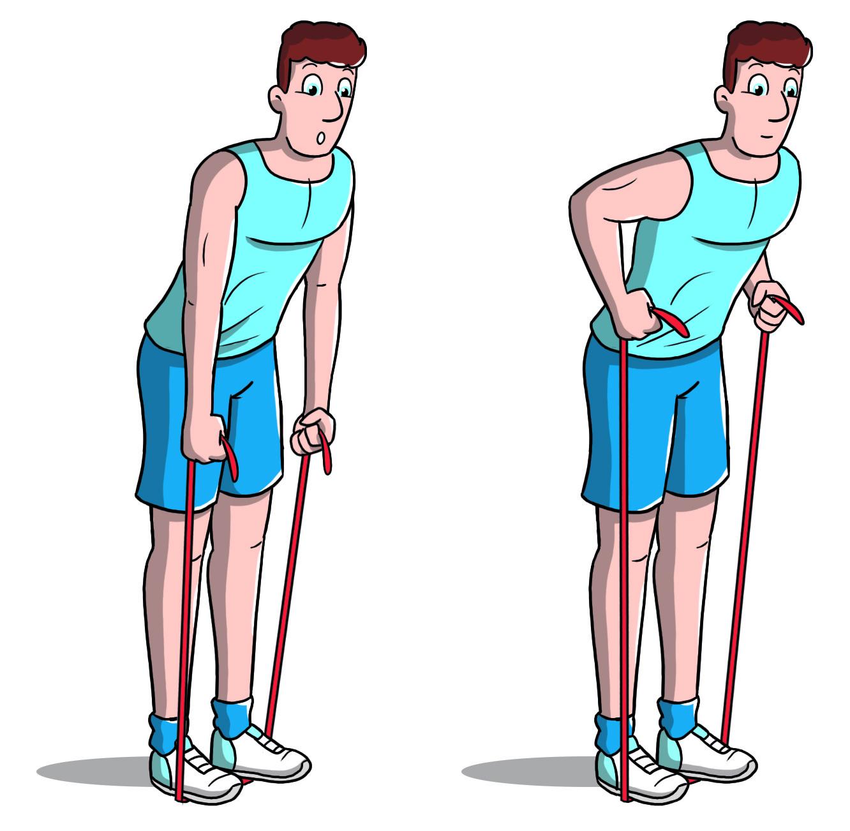 exercice corps entier maison avec élastique