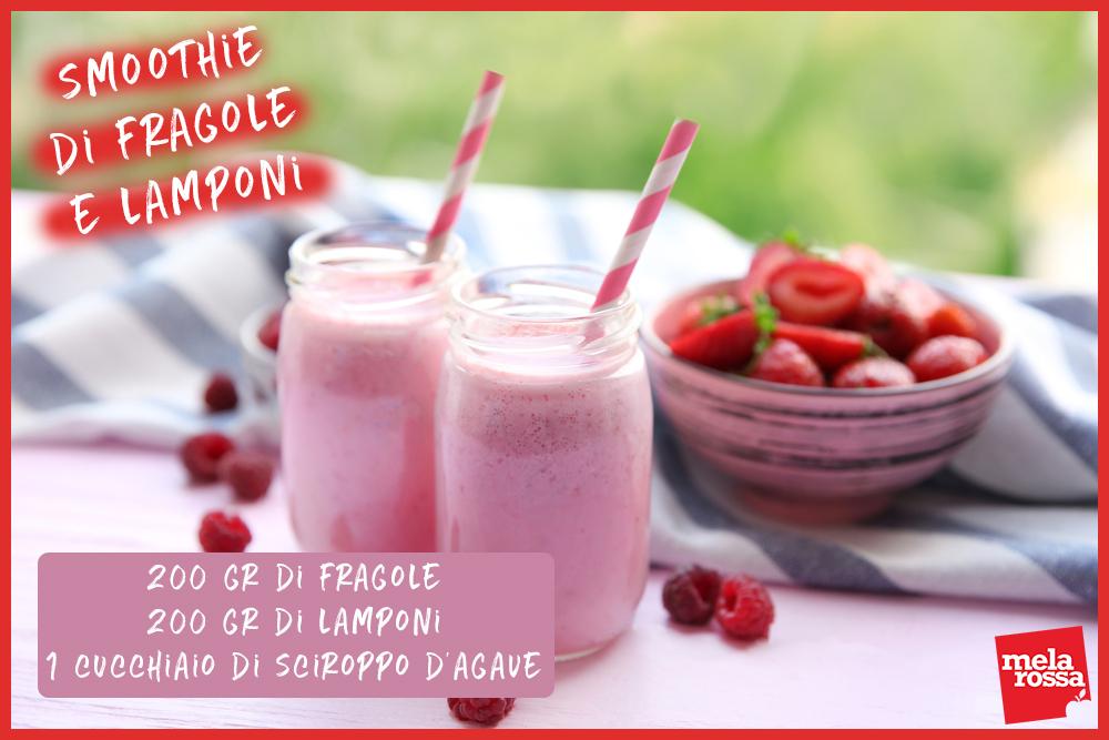 ricetta smoothie fragola e lampone