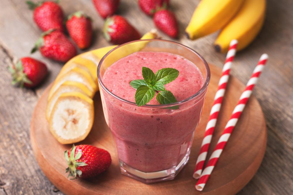 smoothie alle fragole e banane: la ricetta