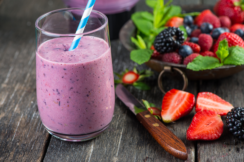 smoothie alle fragole e lamponi