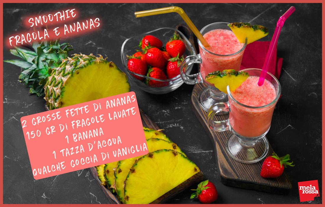 ricetta smoothie fragola e ananas