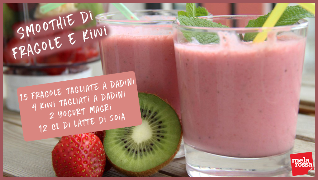 Smoothie di fragole e kiwi